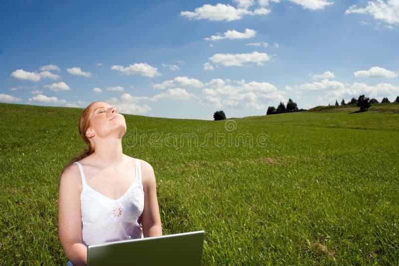 Récréation extérieure d ordinateur portable