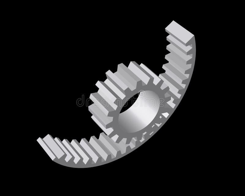 réducteur de Fil-cadre se composant des vitesses et des axes illustration libre de droits
