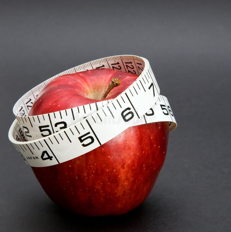 Réducteur de la mesure d'Apple_Nature image stock