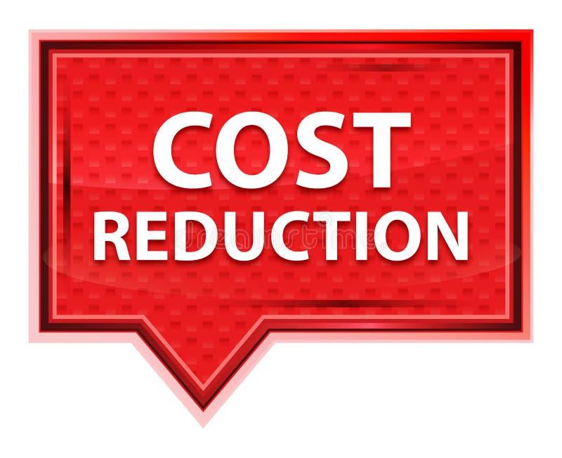 Réduction des coûts bouton rose rose brumeux de bannière illustration libre de droits
