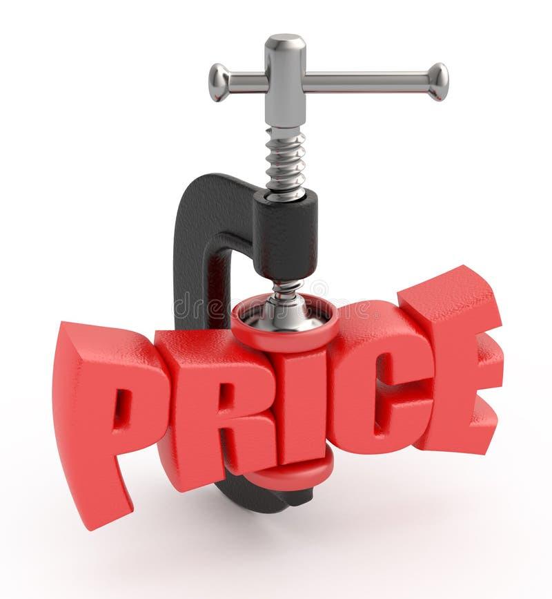 Réduction des prix. illustration libre de droits