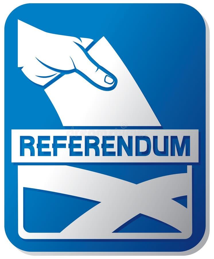 Référendum écossais de l'indépendance illustration libre de droits