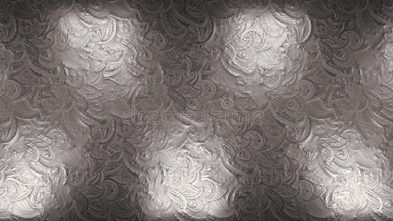 Réflecteurs royaux argentés brillants et éclatants en boucle transparente arrière-plan à effet métallique photos libres de droits
