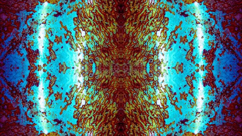 Réflexion abstraite : Fond fortement détaillé ( ; Blue) ; image libre de droits