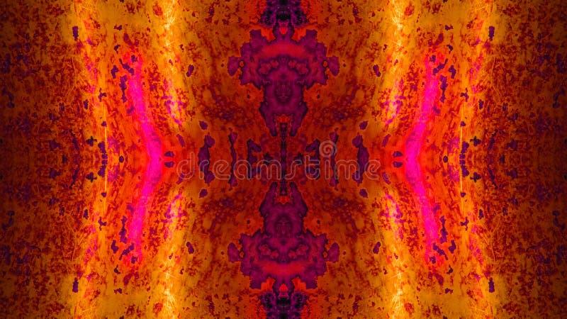 Réflexion abstraite : Rouge fortement détaillé/orange de fond photographie stock