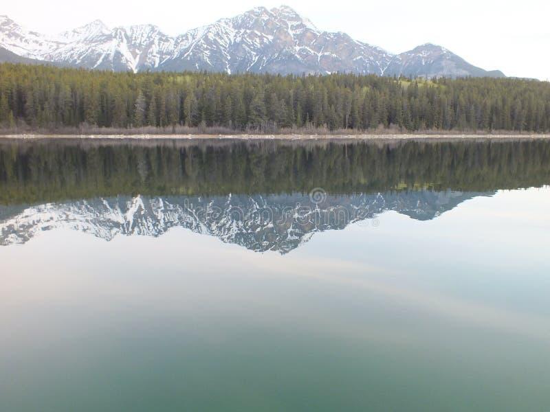 Réflexion au lac Patricia photos stock