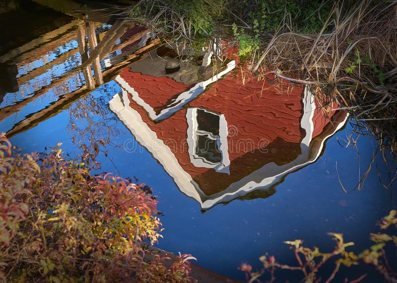 Réflexion d'étang de chantiers navaux de Britannia photos libres de droits