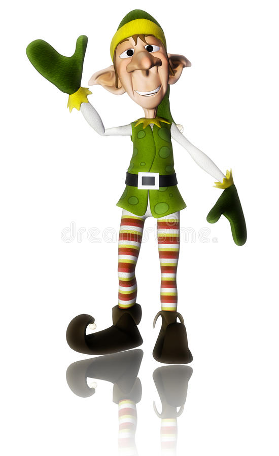 Réflexion d'aide de Santa bonjour illustration de vecteur