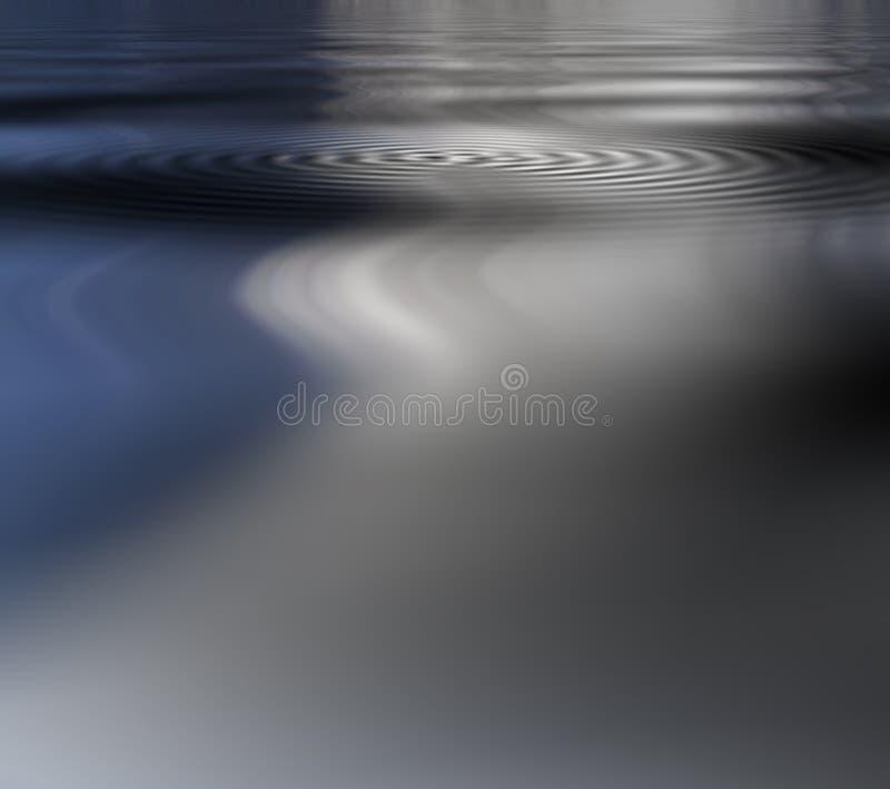Réflexion d'ondulation illustration stock