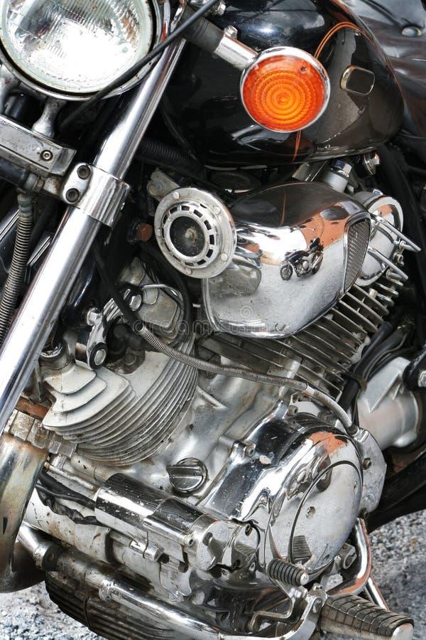 Réflexion d'une moto de sports images libres de droits