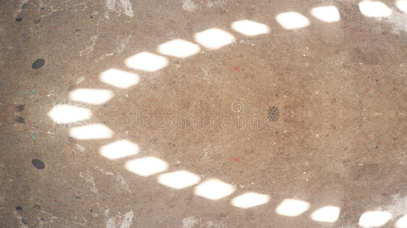Réflexion de la lumière sur le plancher illustration libre de droits
