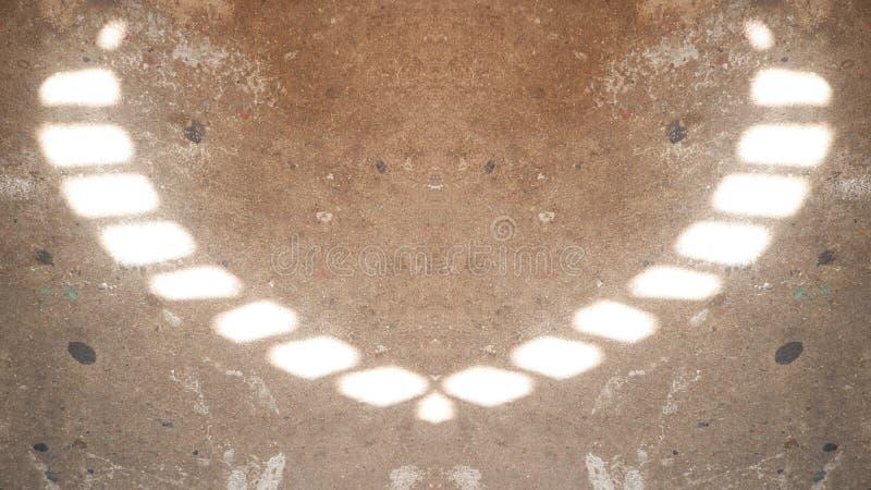 Réflexion de la lumière sur le plancher illustration de vecteur