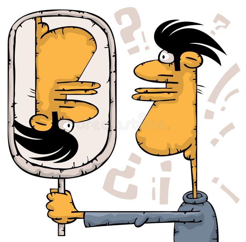 Réflexion de miroir impossible illustration de vecteur