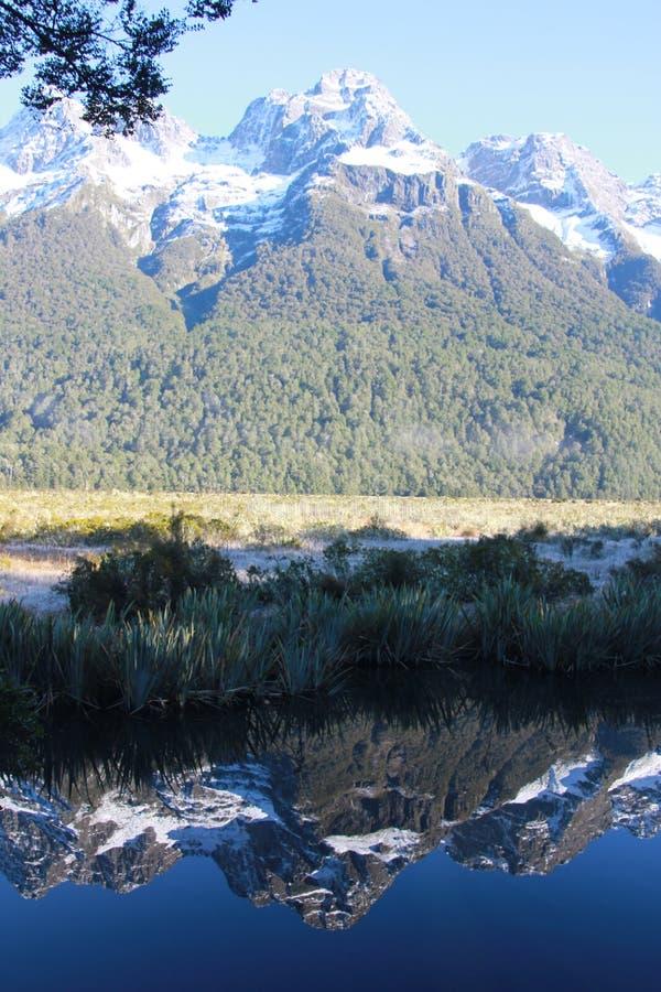 Réflexion 9410 de montagne photo libre de droits