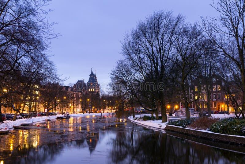 Réflexion de musée d'Amsterdam photo libre de droits