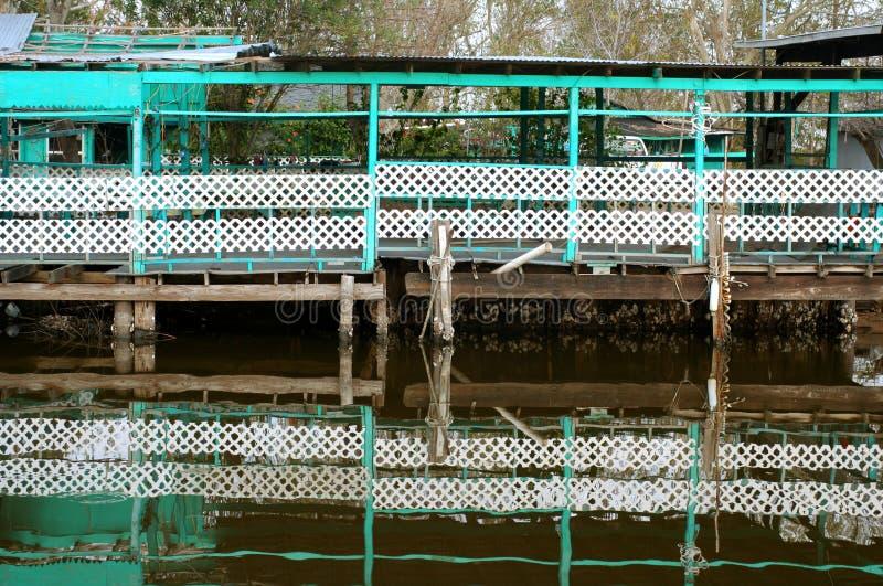 Réflexion de quai photos stock