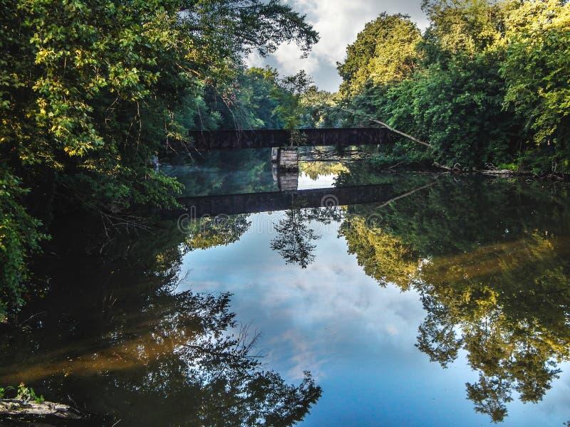 Réflexion de rivière images libres de droits