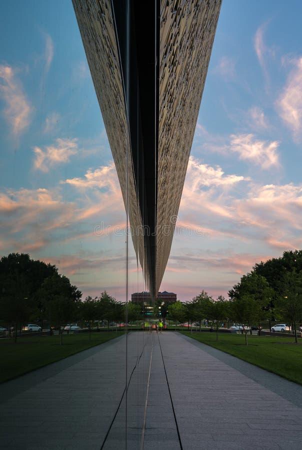 Réflexion de Washington dans le musée d'Afro-américain photo libre de droits