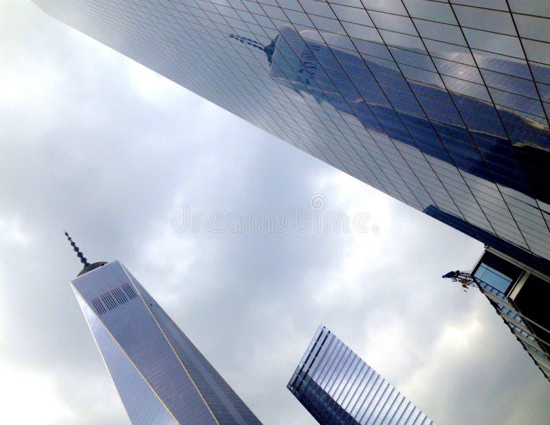 Réflexion de World Trade Center image stock