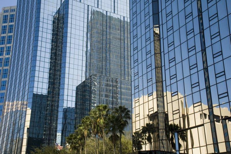 Réflexion du centre de Tampa Bay photographie stock