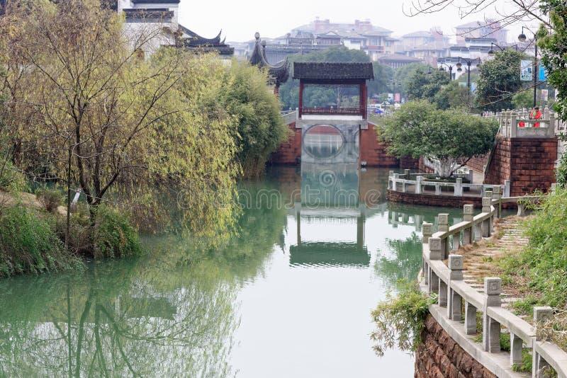 Réflexion du spectre de lac-Qingyun photos libres de droits