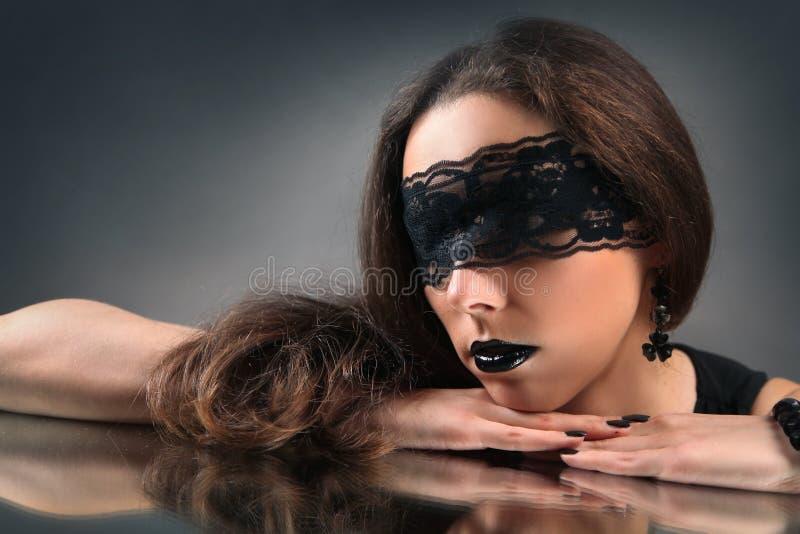 Réflexion noire photographie stock