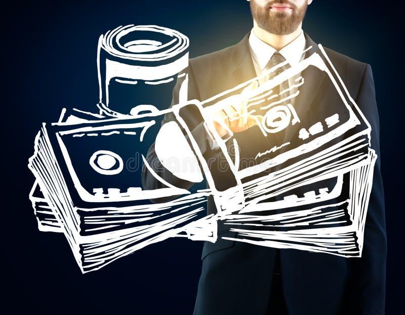 réflexion réelle d'argent de maison de patrimoine de concept image libre de droits