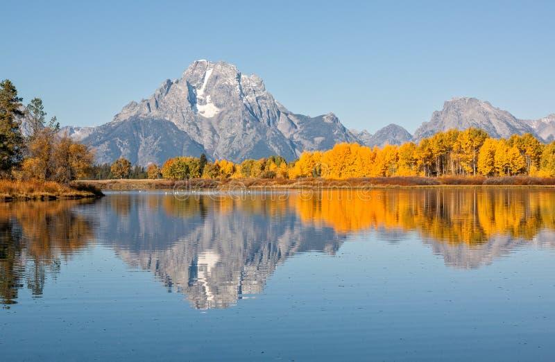Réflexion scénique d'automne de Teton photo libre de droits