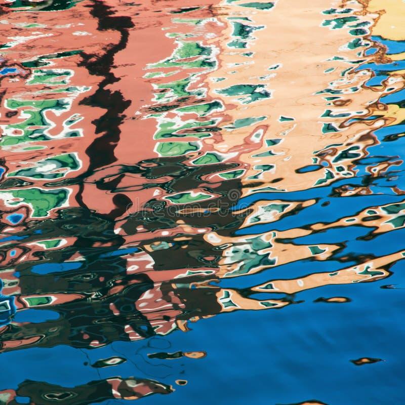 Réflexions colorées photo stock