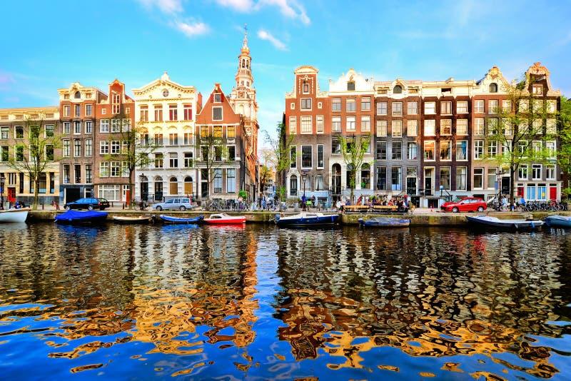 Réflexions d'Amsterdam photo stock