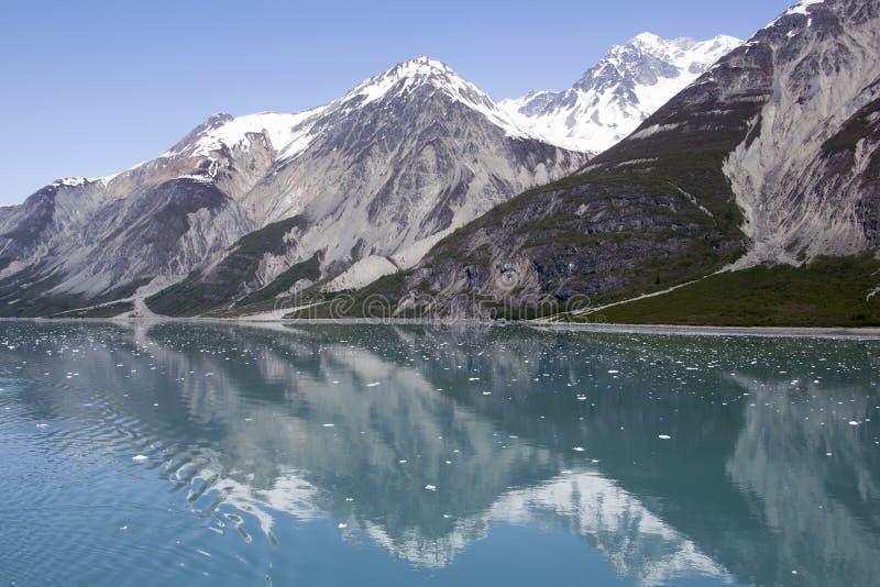Réflexions de baie de glacier photos libres de droits
