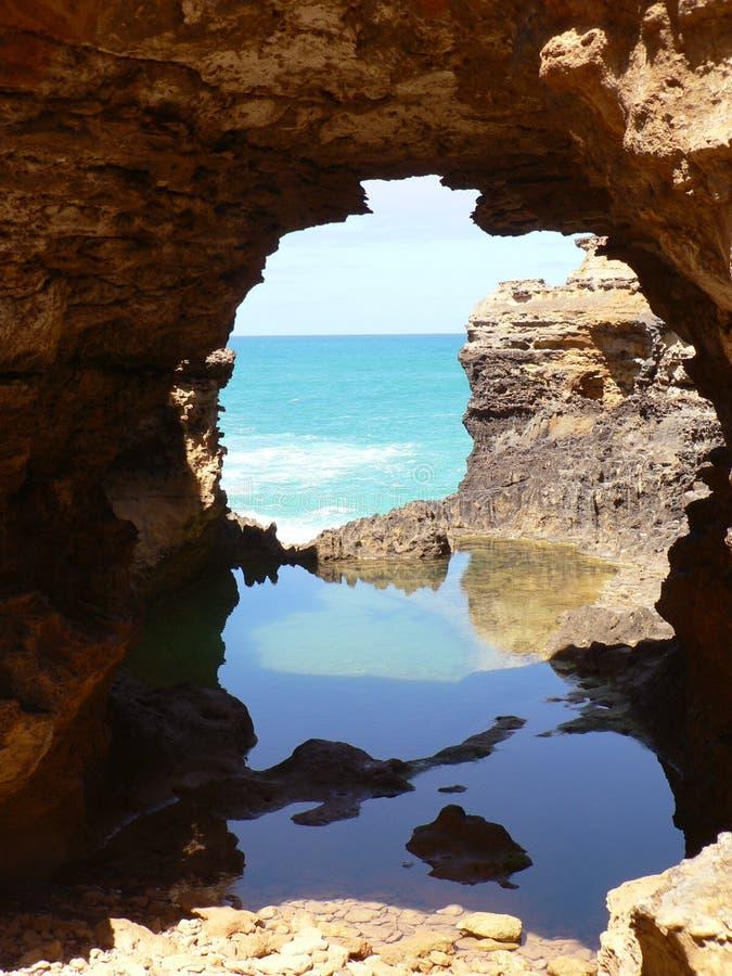 Réflexions de caverne photographie stock
