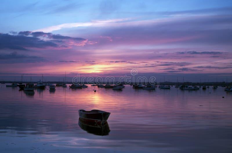 Réflexions de coucher du soleil image libre de droits