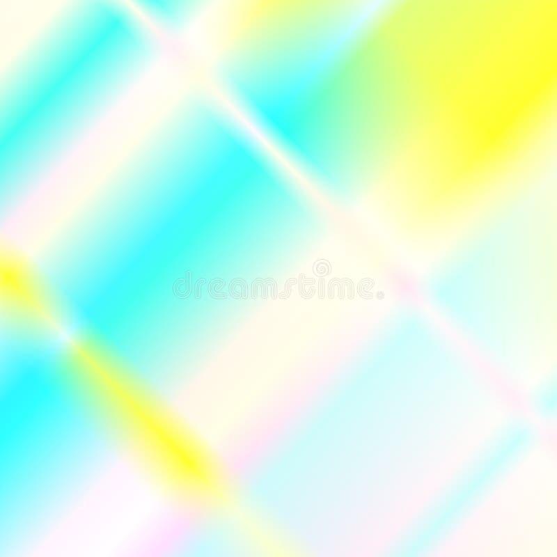 Réflexions de lueur d'arc-en-ciel de lumière Dispersion et réflexion olographes dans le verre illustration stock