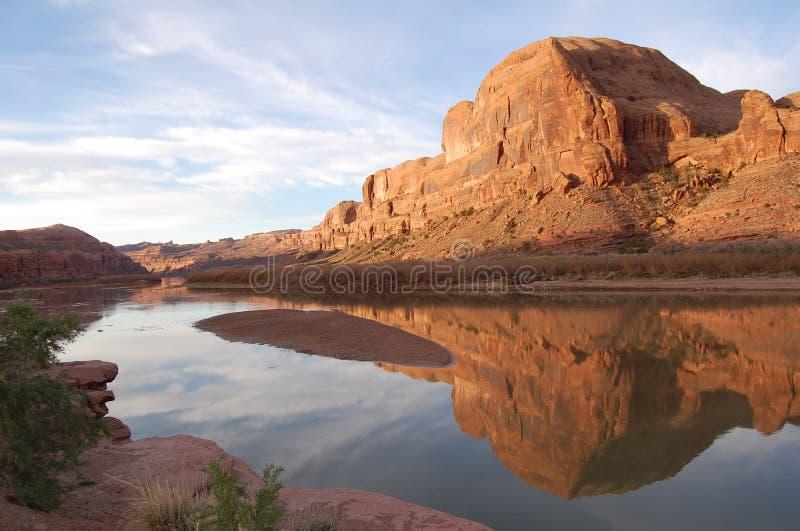 Réflexions de Moab, Utah image libre de droits