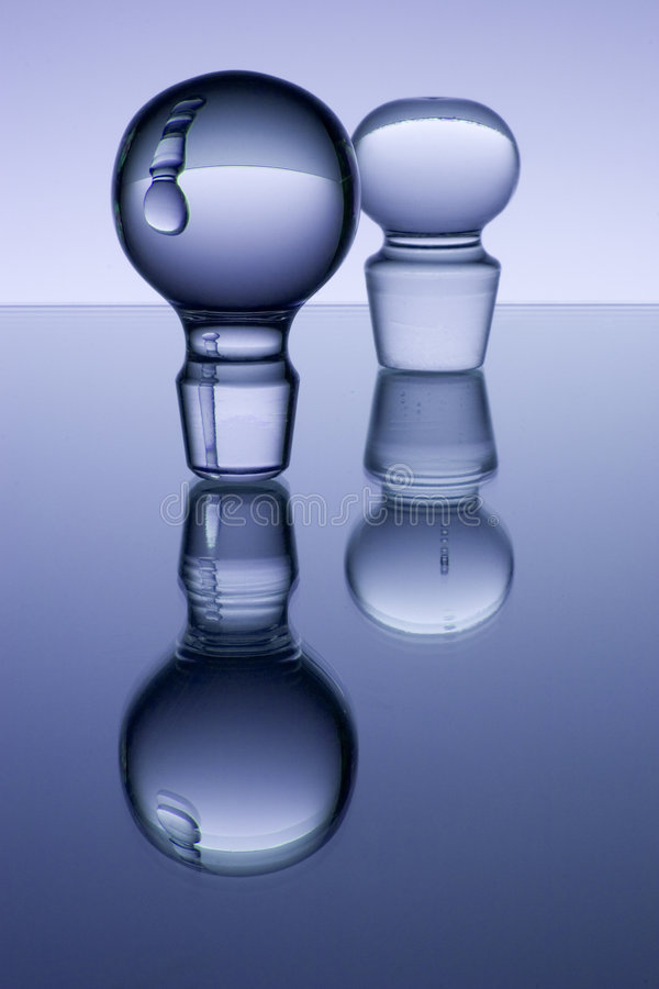 Réflexions en verre photo stock