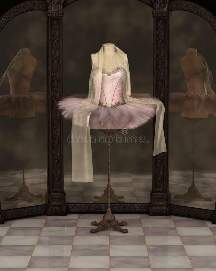 Réflexions roses de tutu de ballet classique illustration stock