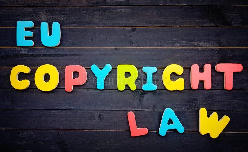 Réforme d'UE Copyright sur le marché unique de Digital - concept image stock