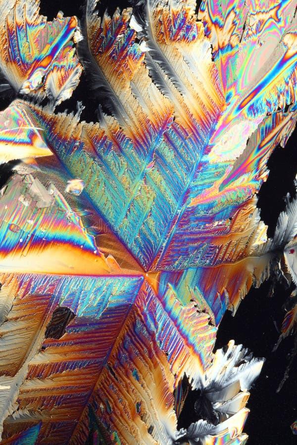 Réfraction en cristal colorée images libres de droits