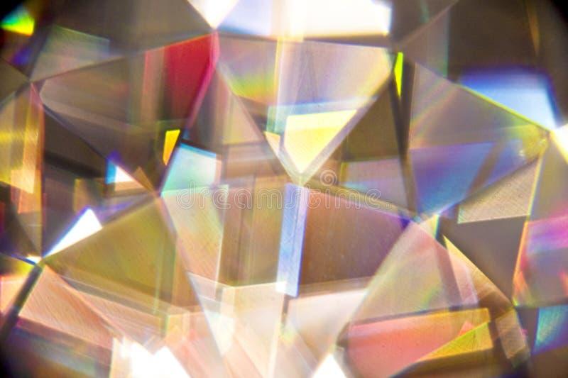 Réfractions légères par le cristal photographie stock