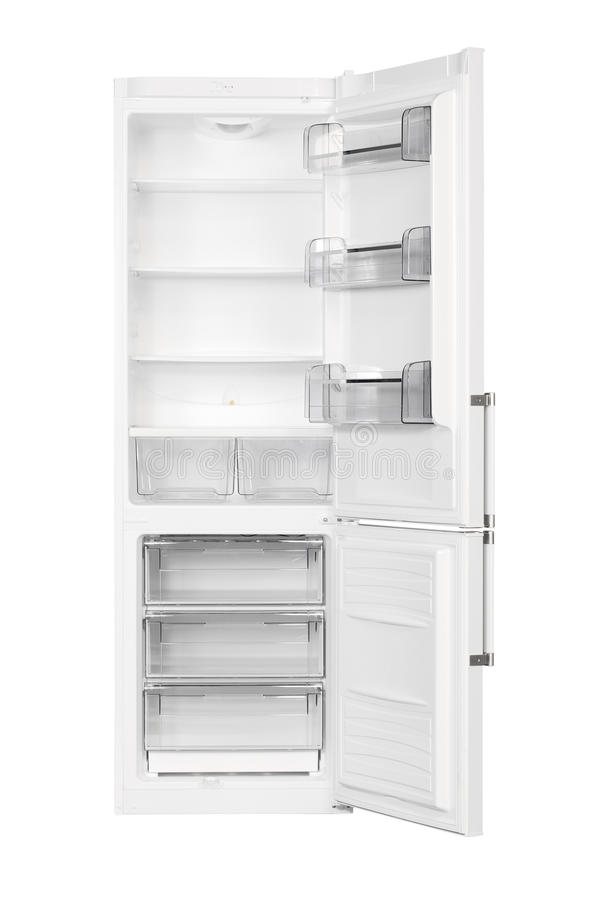 Réfrigérateur blanc image stock
