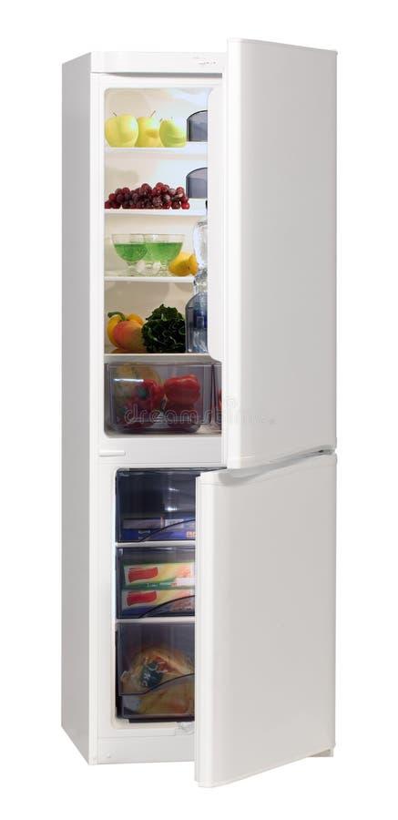 Réfrigérateur de blanc de deux trappes image stock