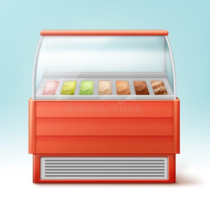 Réfrigérateur de crème glacée  illustration libre de droits