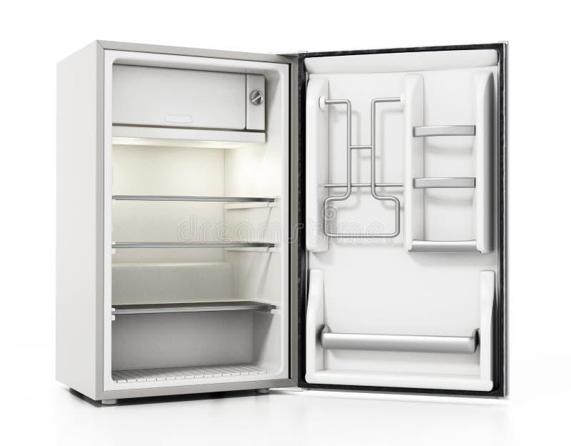 Réfrigérateur de petite taille d'hôtel d'isolement sur le fond blanc illustration 3D illustration libre de droits