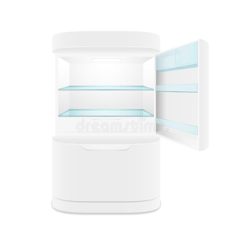 Réfrigérateur moderne de blanc de deux portes illustration stock