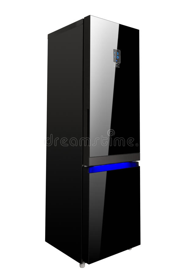 r frig rateur noir brillant de porte deux en verre photo. Black Bedroom Furniture Sets. Home Design Ideas