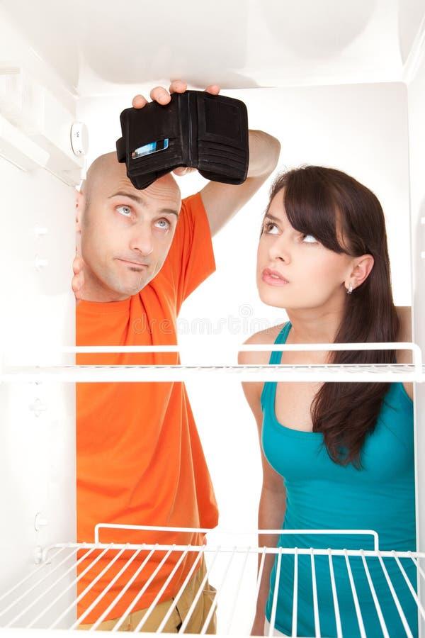Réfrigérateur vide de pochette vide photos libres de droits