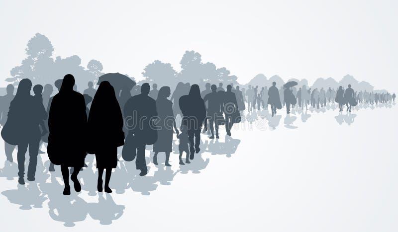 réfugiés illustration de vecteur