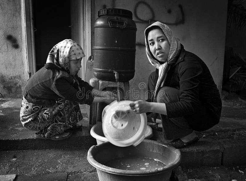 Réfugiés sans abri à Athènes, Grèce image stock