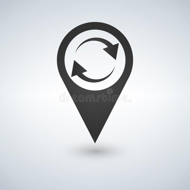 Régénérez l'icône de marqueur de carte Illustration de vecteur photographie stock